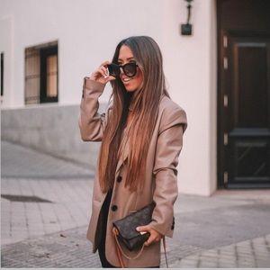 Faux Leather Oversized Blazer Size M NWT